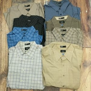 Lot of 8 Men's Button Down Dress / Casual Shirts